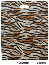 K-F1.1 Plastic Bags Animal Print 100pcs 40x50cm