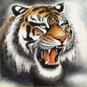 R-E6.1 Z173 Diamond Painting Set Square Stones Full Tiger 30x30cm