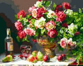 Q-C7.2 X151  Diamond Painting Set Bouquet-Wine 40x30cm