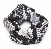 S-D6.4 H305-011 Scrunchie Snake Grey