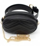 Z-A2.6  BAG212-002 Combination Bum-Shoulder Bag incl Belt 19x12x7cm Black