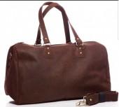 K-E7.1   BAG-921 Luxury Leather Travel-Sport Bag 47x32x16cm Brown