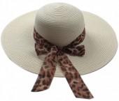 Z-D1.5 HAT504-005B Summer Hat Leopard Grey