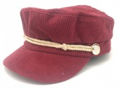 T-L7.2  HAT402-001 Sailor Cap Rib Fabric Bordeaux