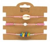 F-E6.2  B316-046 Bracelet Set 3pcs Shell Pink