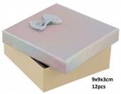 Z-F5.6 PK424-076 Giftbox for Jewelry 9x9x3cm Silver 12pcs