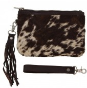 T-E7.3 BAG1051 Cowhide Clutch Mixed Colors 22x14cm