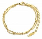 E-A8.1 B019-007G Layered S. Steel Bracelet