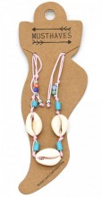 E-B9.2  ANK221-014 Anklet with Shells Pink
