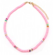 B-A8.1  N1925-007 Choker Surf Necklace 37 - 43cm Pink