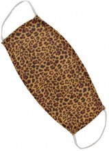 S-G6.4 Fashion Mask - 2 Layers - Cotton - Machine Washable - Individually Packed - Leopard