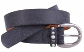 J-C6.1 FTG-076 PU with Leather Belt Snake 3.5x105cm Grey