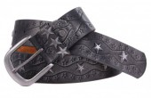 G-A15.1 FTG-063 Leather with PU Belt Stars Grey 95cm