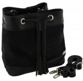 T-H1.1 BAG-961 Leather Bag 32x20x13cm Black with Mixed Colors Cowhide