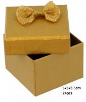 Y-E4.4 PK424-076 Giftbox for Rings 5x5x3.5cm Gold 24pcs