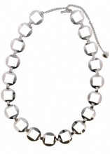 S-H8.2 Metal Chain Belt Circles with open Squares