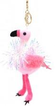 S-F6.2 KY2035-002B Keychain Flamingo with Glitters 18cm Pink
