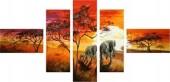 T-P3.1 FF002 Diamond Painting Set Elephants 5 Frames