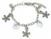 E-D7.4 B2053-013 S. Steel Bracelet Snowflake 14-17cm For Kids
