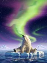T-F4.2 GD75054 Diamond Painting Set Polar Bear 40x30cm