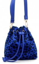 Q-K4.2  BAG202-009 PU Bag with Leopard Print 19x18x10cm Blue