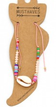E-C9.2  ANK221-013 Anklet with Shell Pink