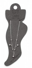 ANK104-021 Anklet 925 Sterling Silver with Various Balls