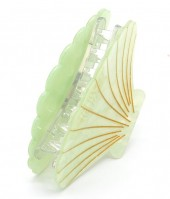 X-O6.2 H413-048A Hair Clip Large Shell 9cm Green