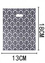 A-G3.4  Plastic Bags with Baroque Print 50pcs 18x13cm