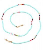 B-F6.4 GL462 Sunglass Chain Beads Blue