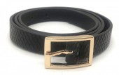 S-F8.4 BELT418-003C PU Belt Snake Black L