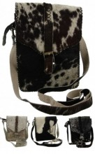 X-A10.1 Leather Cowhide Cross Body Bag 1pc 19x28x6cm Every bag is unique colors mixed