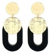 B-E10.1 E1631-032B Earrings 5.5x2.5cm