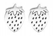 D-D21.2 E2065-104S S. Steel Studs Strawberry 10mm Silver