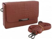 S-B5.3  BAGE-1027 Leather Bag Croco 20x13x6cm Pink