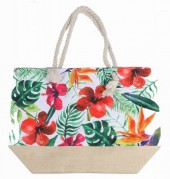Y-C5.2 BAG528-016 Beach Bag Flowers 36x52cm