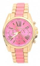 D-F19.1 W123-003 Metal Watch Gold-Pink