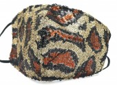 G-F5.2 FM042-035B Glitter Face Mask Leopard - Individually Packed - Brown