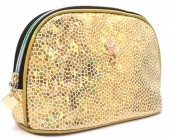 Y-C6.4  BAG200-021 Make Up Bag Shiny Gold