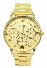 D-D18.3 Metal Quartz Watch Gold