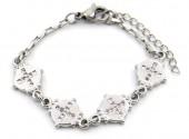 E-B17.2 B2053-010 S. Steel Bracelet Coin 14-17cm For Kids