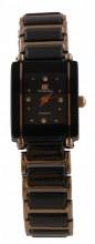 D-A23.4  Quartz Metal Watch 25x20mm Black - Rose Gold