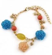 D-A10.1 B565-956 Bracelet with Flowers Gold