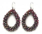 A-B17.2  E007-001 Facet Glass Beads 4.5x3.5cm Multi