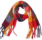 Y-B1.4 SCARF405-060B Soft Checkered Scarf Multi