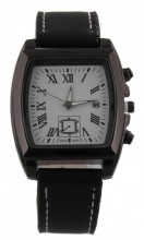 A-A17.6  W421-004A Quartz Watch with Date 40x45mm Black