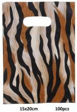 X-O1.4 Plastic Bags Animal Print 100pcs 15x20cm