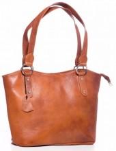 Q-C6.1 BAG-553 Leather Bag 40x28x11cm Brown