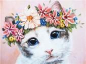 T-N6.2 GD74850 Diamond Painting Set Cat 40x30cm