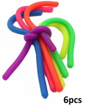 Fidget Noodles - Mixed Colors - 6pcs